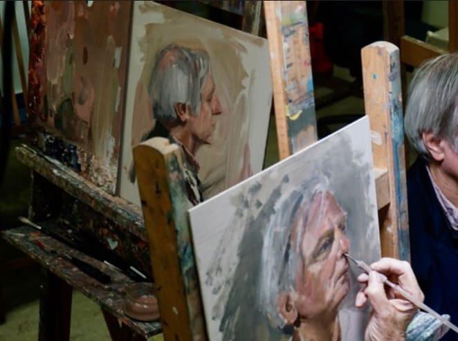 Impressie van de Portretschool, tweejarige opleiding bij NoorderAteliers